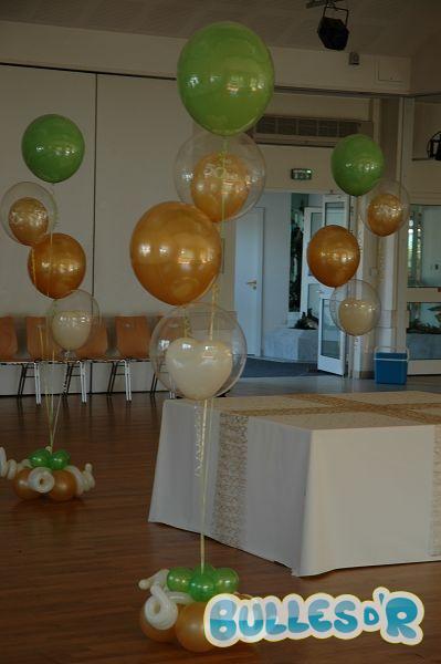 Bullesdr Decoration De Noces D Or En Ballons Wiwersheim Alsace