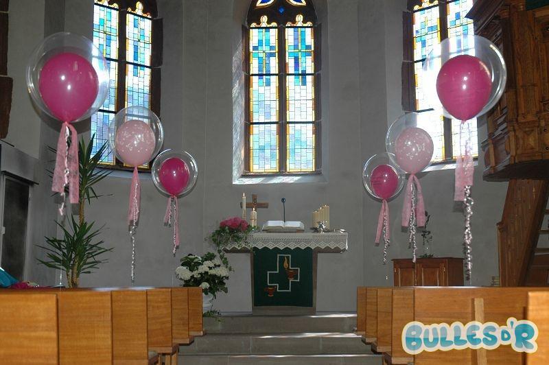 Bullesdr Décoration de fête de baptême en ballons à