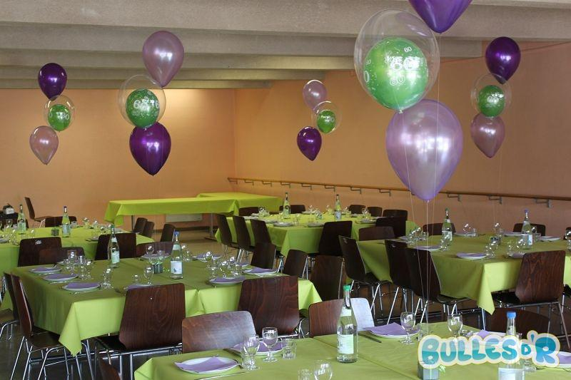 Bullesdr d coration de f te anniversaire 60 ans en ballons geudertheim alsace for Photos de decoration