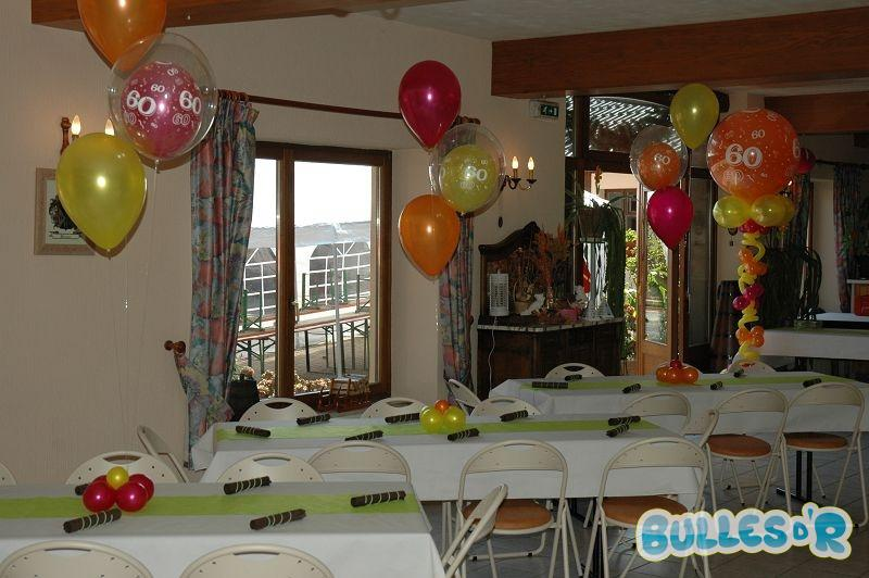 Bullesdr d coration d 39 anniversaire en ballons ottrott - Decoration de table anniversaire 60 ans ...