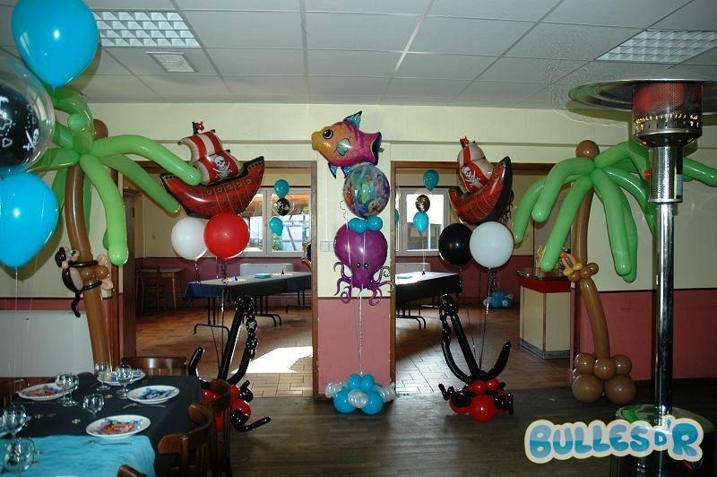 Bullesdr d coration de bapt me en ballons hoerdt 67720 alsace bullesdr - Decoration bapteme theme pirate ...