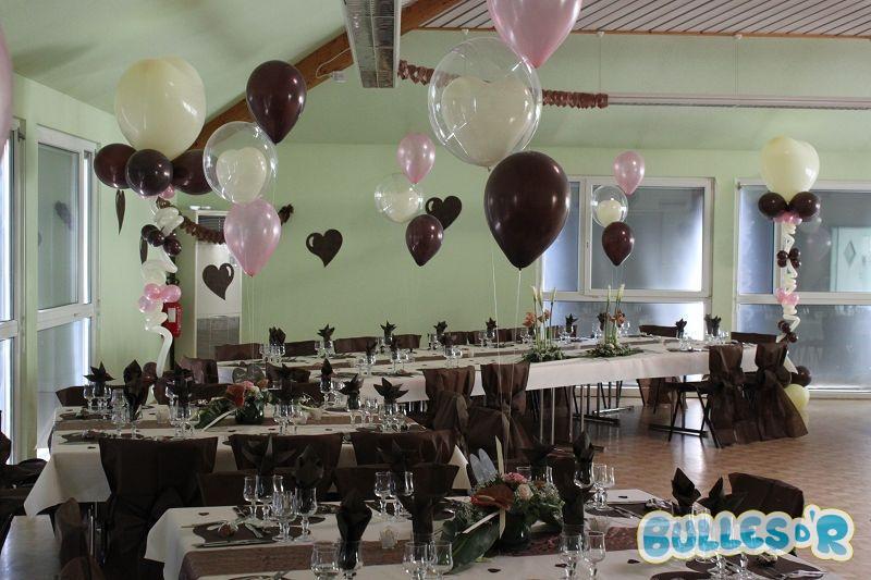 decoration mariage ivoire et chocolat