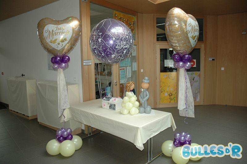 Bullesdr d coration de mariage en ballons ittenheim 67117 alsace bullesdr - Decoration ballon mariage ...