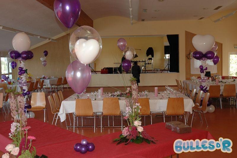 ballons cette décoration de salle de mariage a pour thèmes les ...