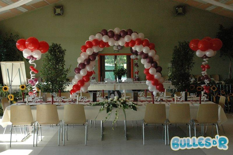 Bullesdr d coration de mariage en ballons bernardswiller - Decoration salle mariage rouge et blanc ...