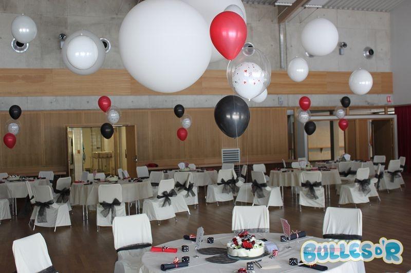 Bullesdr d coration de mariage en ballons kurtzenhouse - Decoration salle mariage rouge et blanc ...