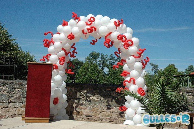 Bullesdr d coration de mariage en ballons obernai 67210 alsace bullesdr - Decoration mariage rouge et blanc ...
