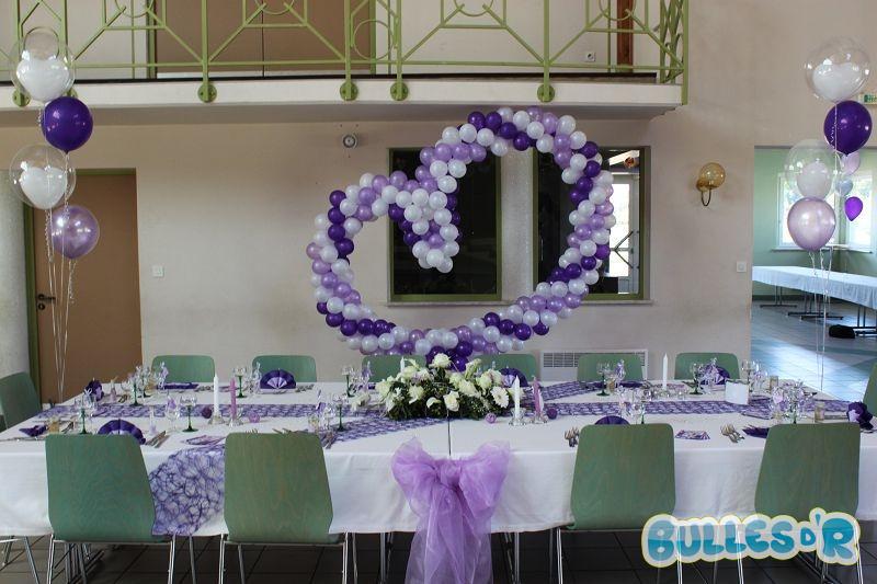 Salle Mariage Theme Violet Et Blanc 3 De Réception Pour Le 31 Picture ...