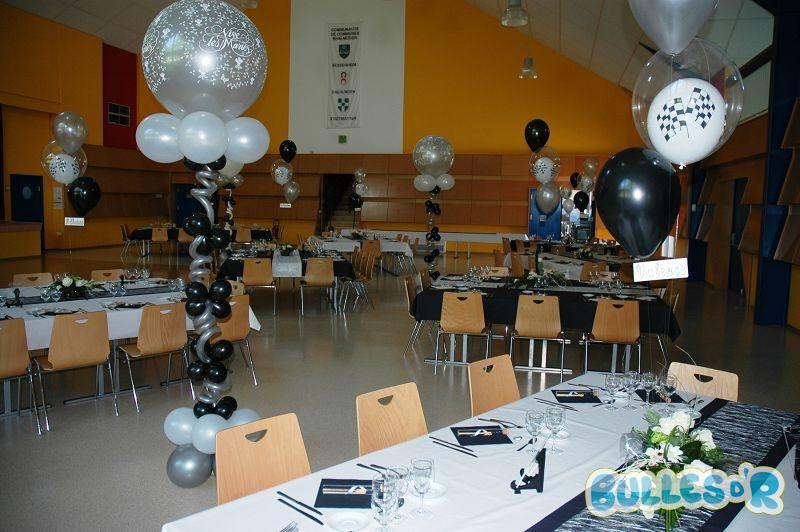 Bullesdr d coration de mariage en ballons dalhunden for Decoration de salle noir et blanc
