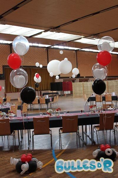 Bullesdr d coration de mariage en ballons plobsheim - Decoration de salle noir et blanc ...