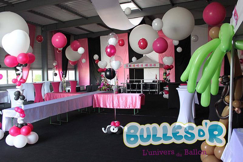 Bullesdr d coration de mariage en ballons wingersheim for Decoration de salle noir et blanc