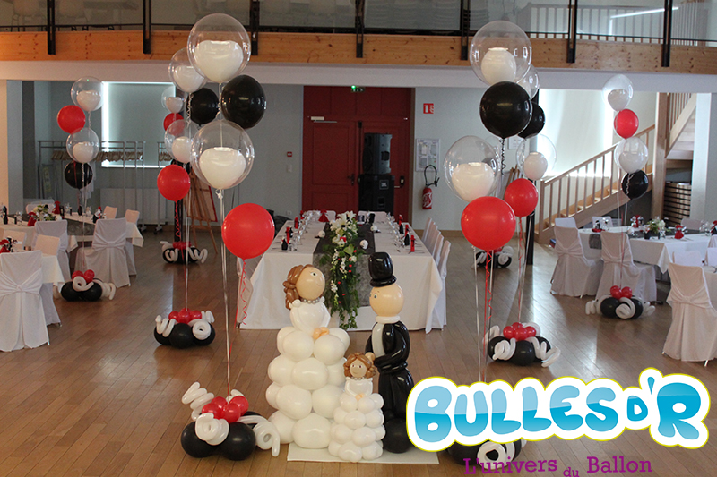 Bullesdr d coration de mariage en ballons steinbourg for Decoration 40 ans de mariage