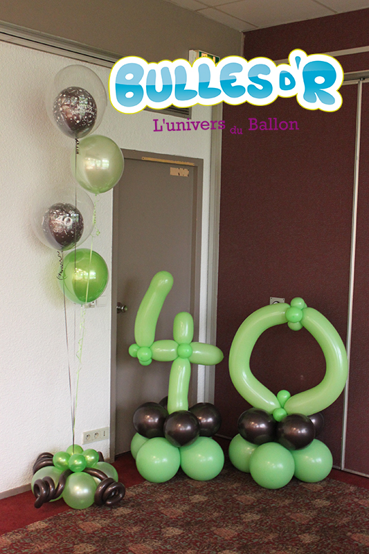 bullesdr d coration ballons anniversaire 40 ans ostwald. Black Bedroom Furniture Sets. Home Design Ideas