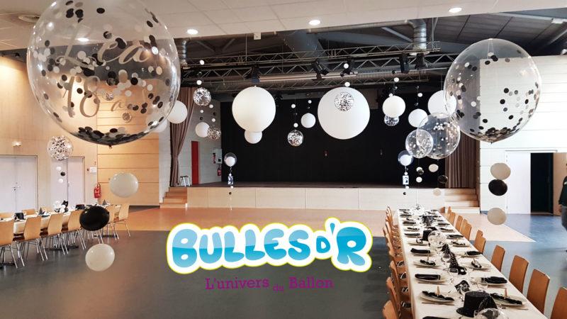 Décoration Ballons Anniversaire 18ans - ballons confettis et décoration nuage