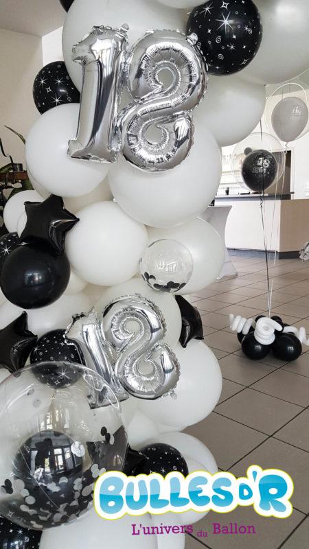 Décoration Anniversaire - Arche ballons déstructuré