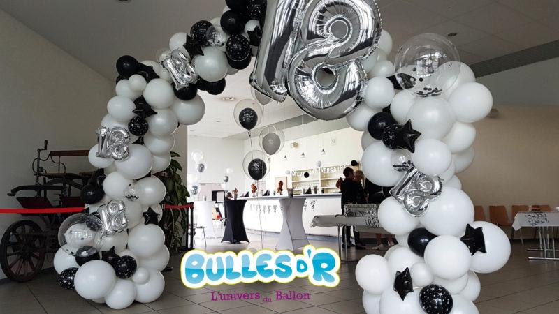 Décoration Anniversaire 18ans Weitbruch -Arche ballons et confettis