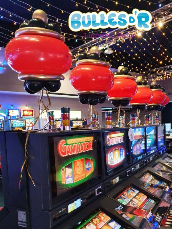 Décoration ballons Nouvel An Lunaire Casino Barrière Ribeauvillé - Lanterne chinoise