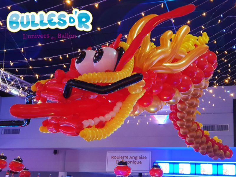 Décoration Nouvel An Lunaire Casino Barrière Ribeauvillé - Dragon chinois en ballons