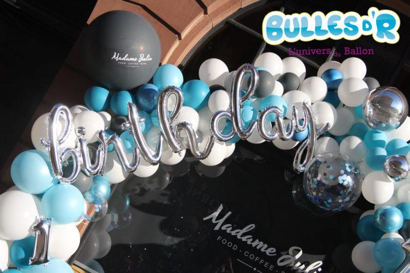 ballons confettis et lettre aluminium